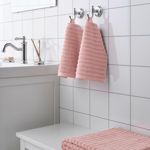 FLODALEN Washcloth, light pink, 30x30 cm