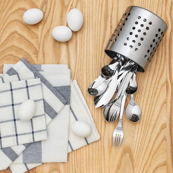 FÖRNUFT 24-piece cutlery set, stainless steel