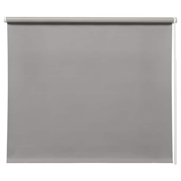 FRIDANS Block-out roller blind, grey, 100x195 cm