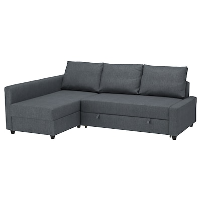 FRIHETEN Corner sofa-bed with storage, Hyllie dark grey