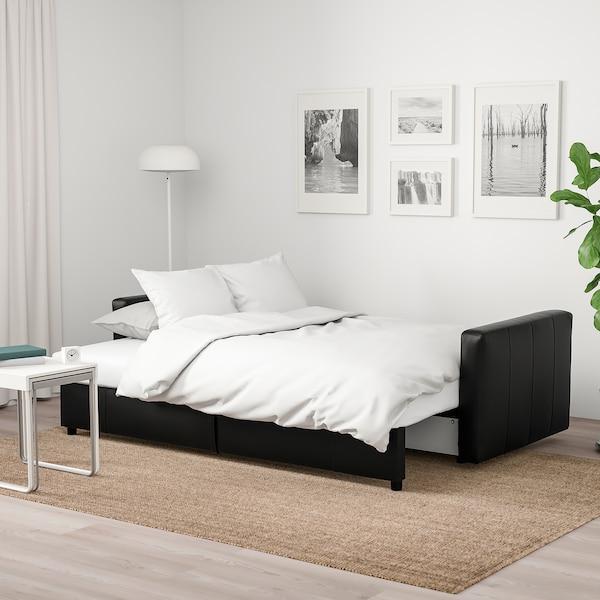 FRIHETEN Three-seat sofa-bed, Bomstad black