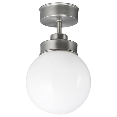 FRIHULT Ceiling lamp, stainless steel colour