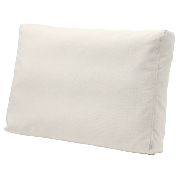 FRÖSÖN/DUVHOLMEN back cushion, outdoor beige 44 cm 62 cm 14 cm