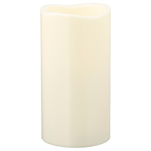GODAFTON LED block candle, in/outdoor battery-operated/natural 14 cm 7 cm
