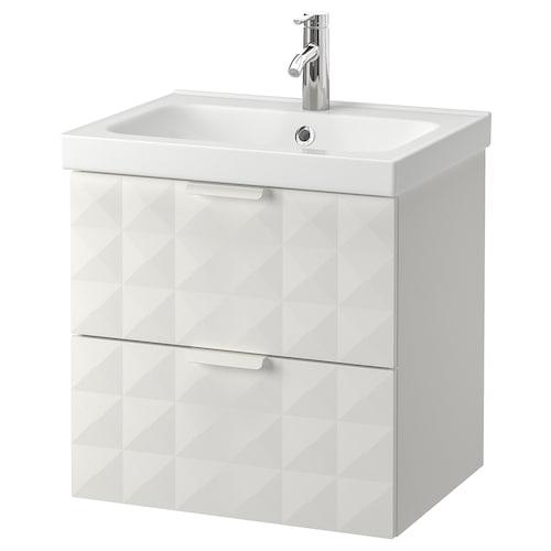 GODMORGON / ODENSVIK wash-stand with 2 drawers Resjön white/Dalskär tap 63 cm 49 cm 64 cm