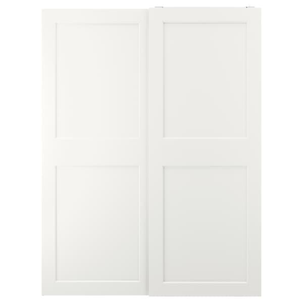 GRIMO Pair of sliding doors, white, 150x201 cm