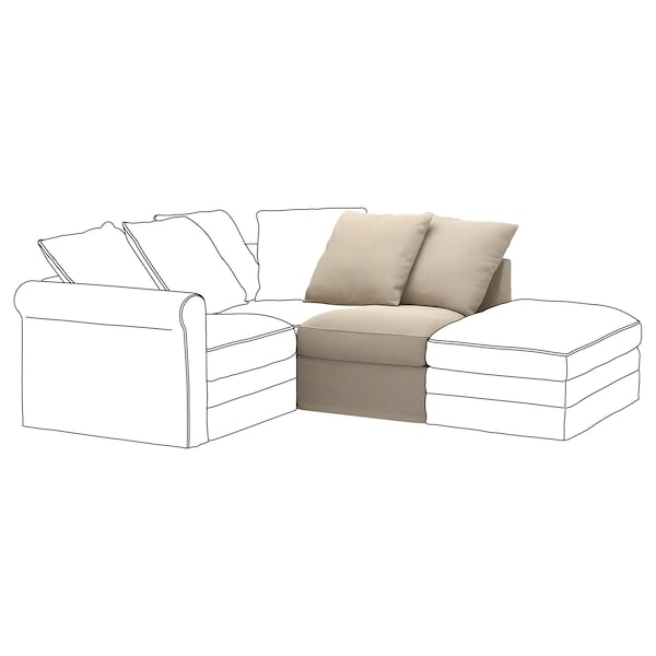 GRÖNLID 1-seat section, Sporda natural