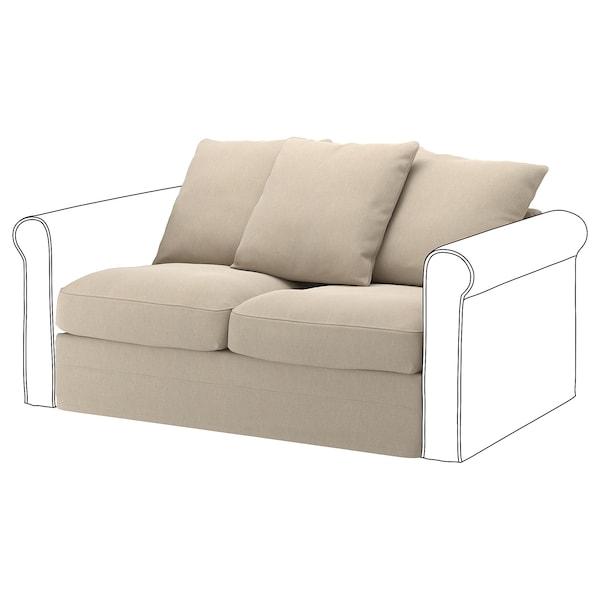 GRÖNLID 2-seat section Sporda natural 104 cm 68 cm 141 cm 98 cm 7 cm 140 cm 60 cm 49 cm