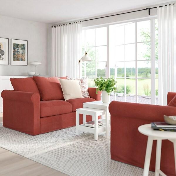 GRÖNLID 2-seat sofa-bed, Ljungen light red