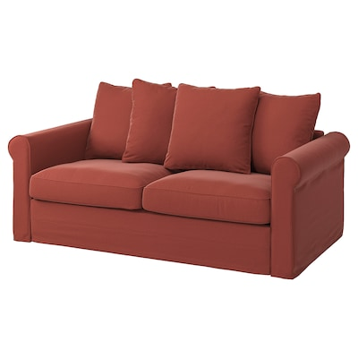 GRÖNLID 2-seat sofa-bed, Ljungen light red