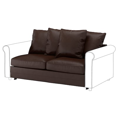 GRÖNLID 2-seat sofa-bed section, Kimstad dark brown