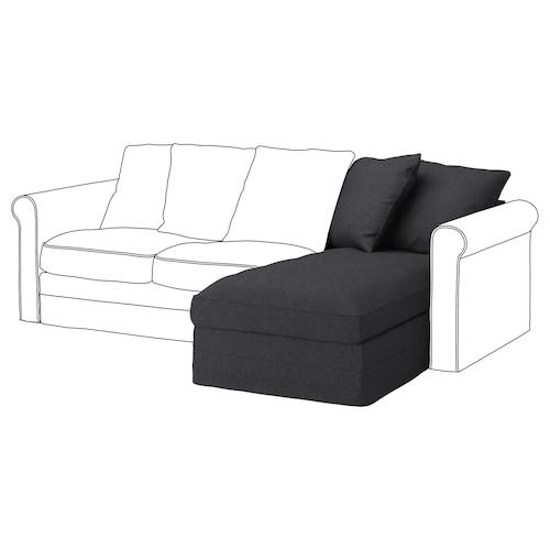GRÖNLID chaise longue section Sporda dark grey 104 cm 68 cm 81 cm 164 cm 7 cm 81 cm 126 cm 49 cm 190 l