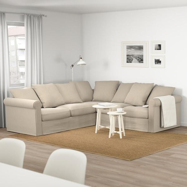 GRÖNLID Corner sofa, 4-seat, Sporda natural