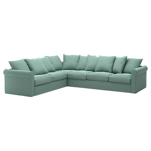 GRÖNLID corner sofa, 5-seat Ljungen light green 104 cm 98 cm 322 cm 252 cm 7 cm 18 cm 68 cm 60 cm 49 cm