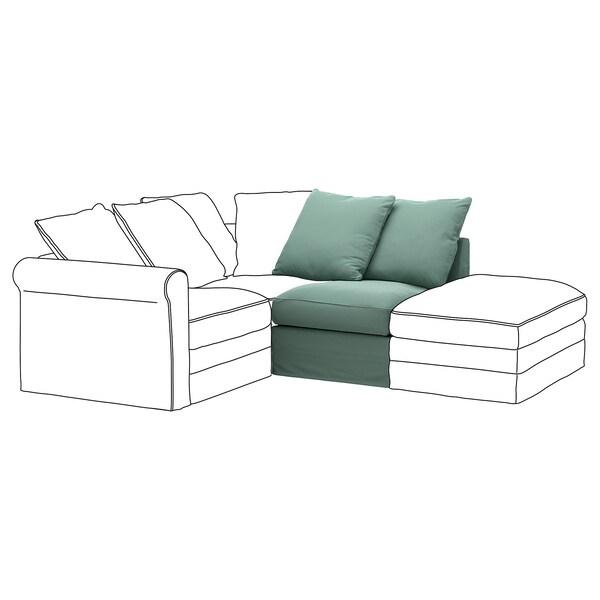GRÖNLID Cover for 1-seat section, Ljungen light green