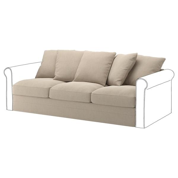 GRÖNLID Cover for 3-seat section, Sporda natural