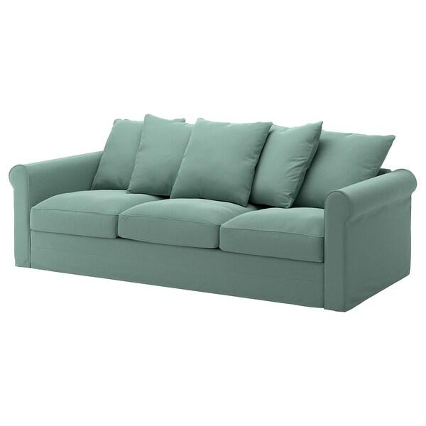 GRÖNLID cover for 3-seat sofa Ljungen light green