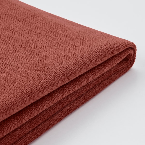 GRÖNLID Cover for 3-seat sofa, with chaise longue/Ljungen light red