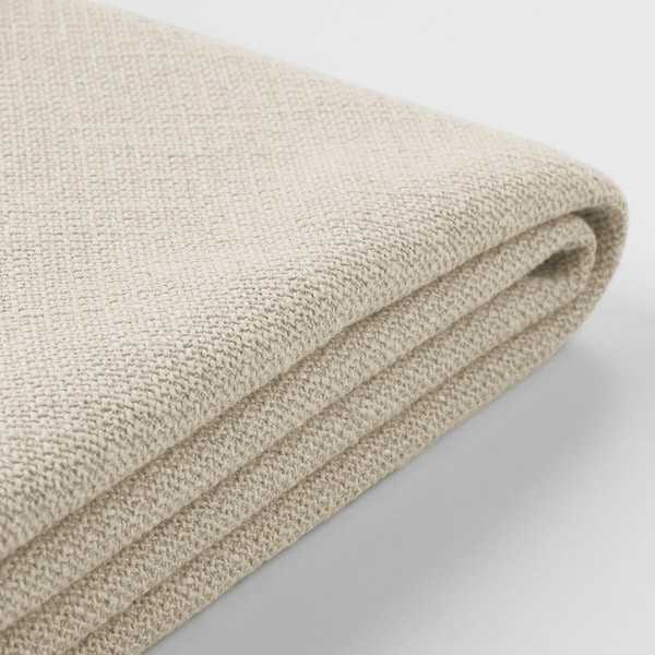 GRÖNLID Cover for 3-seat sofa, with chaise longue/Sporda natural