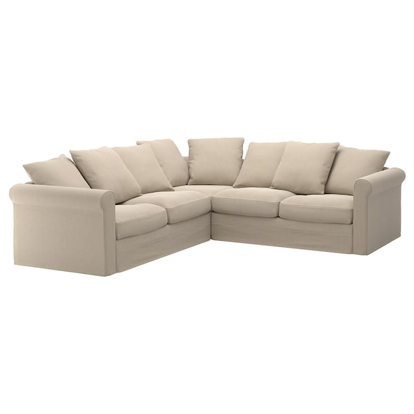 GRÖNLID cover for corner sofa, 4-seat Sporda natural