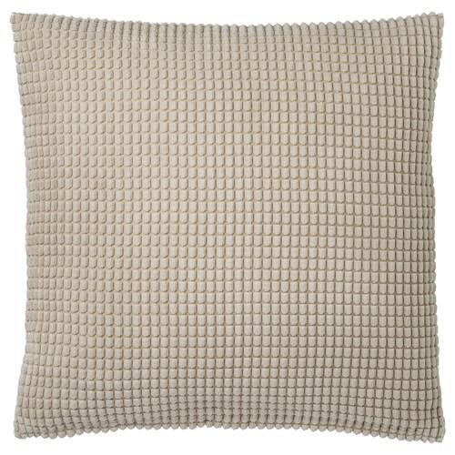 GULLKLOCKA cushion cover beige 50 cm 50 cm