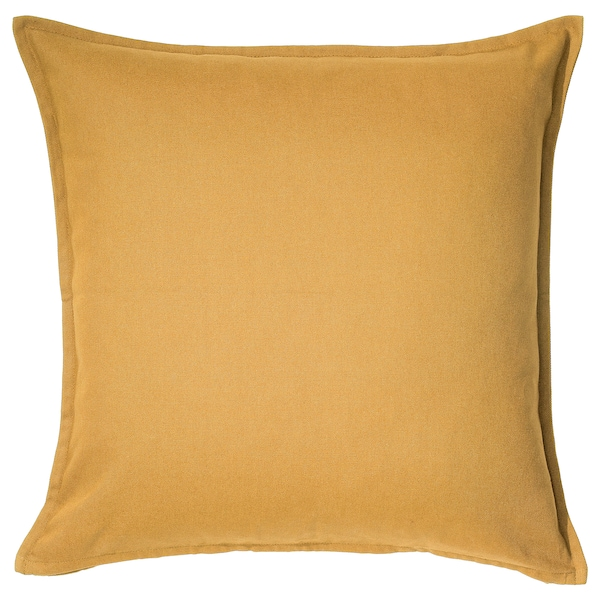 GURLI Cushion cover, golden-yellow, 50x50 cm