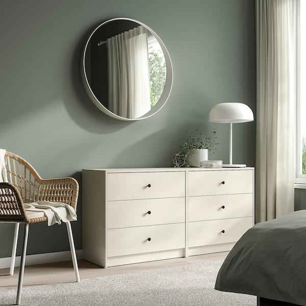GURSKEN Chest of 3 drawers, light beige, 69x67 cm