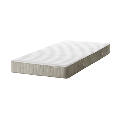 HAFSLO Sprung mattress, extra firm/beige, 90x200 cm