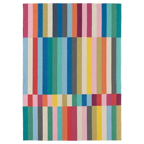 HALVED rug, flatwoven handmade multicolour 240 cm 170 cm 6 mm 4.08 m² 1970 g/m²