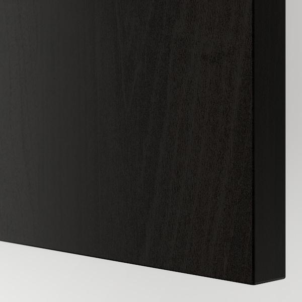 HASVIK Pair of sliding doors, black-brown stained ash effect, 150x201 cm