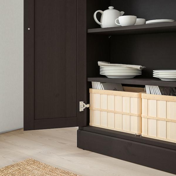 HAVSTA Cabinet with plinth, dark brown, 81x37x134 cm