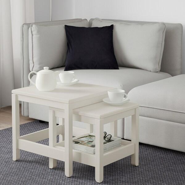 HAVSTA Nest of tables, set of 2, white