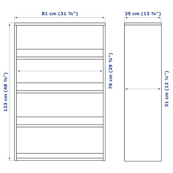 HAVSTA Shelving unit, white, 81x35x123 cm
