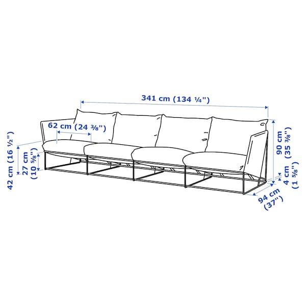 Pleasant 4 Seat Sofa In Outdoor Havsten Beige Squirreltailoven Fun Painted Chair Ideas Images Squirreltailovenorg