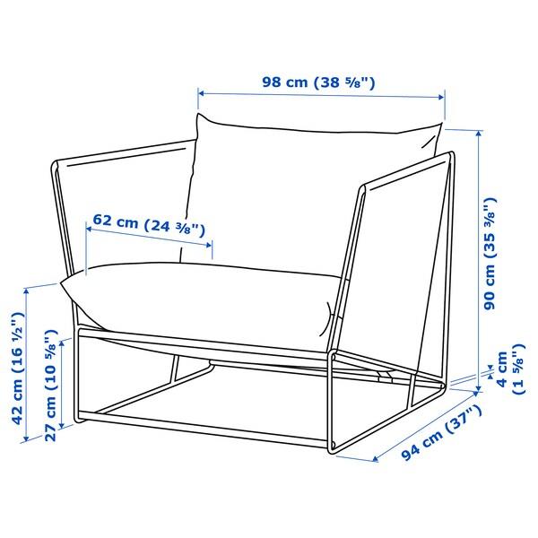 HAVSTEN Armchair, in/outdoor, beige, 98x94x90 cm
