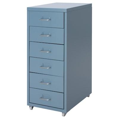 HELMER Drawer unit on castors, blue, 28x69 cm