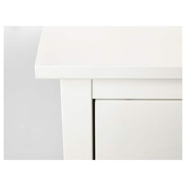 HEMNES Chest of 2 drawers, white stain, 54x66 cm