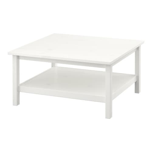 HEMNES Coffee table   Solid wood has a natural feel.  Separate shelf for magazines, etc.