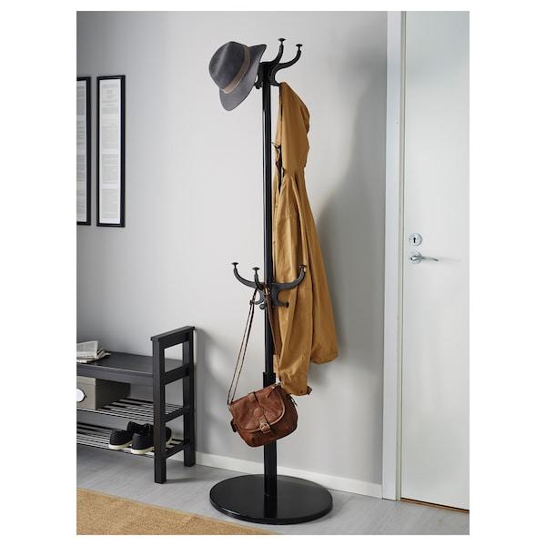 HEMNES hat and coat stand black 185 cm 50 cm