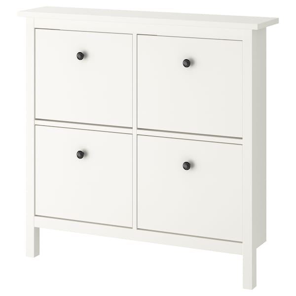 HEMNES shoe cabinet with 4 compartments white 107 cm 22 cm 101 cm