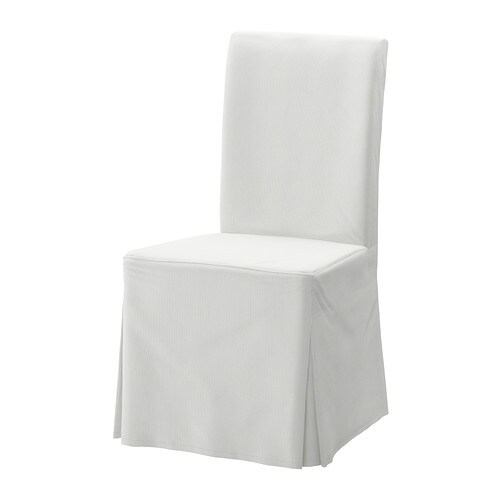 HENRIKSDAL Chair cover, long   The washable cover to HENRIKSDAL chair frame is easy to put on and take off.