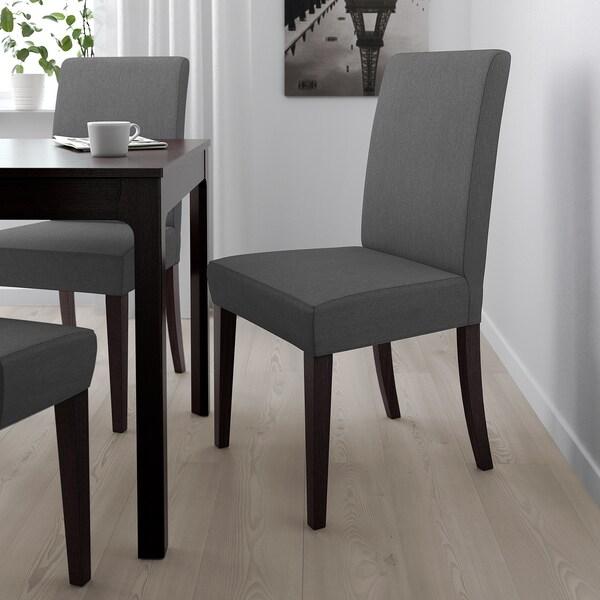 HENRIKSDAL Chair, dark brown/Dansbo dark grey