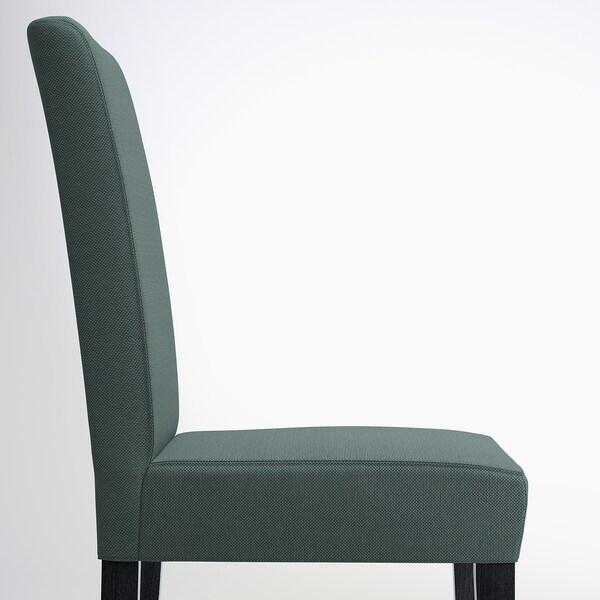 HENRIKSDAL Chair, dark brown/Finnsta turquoise
