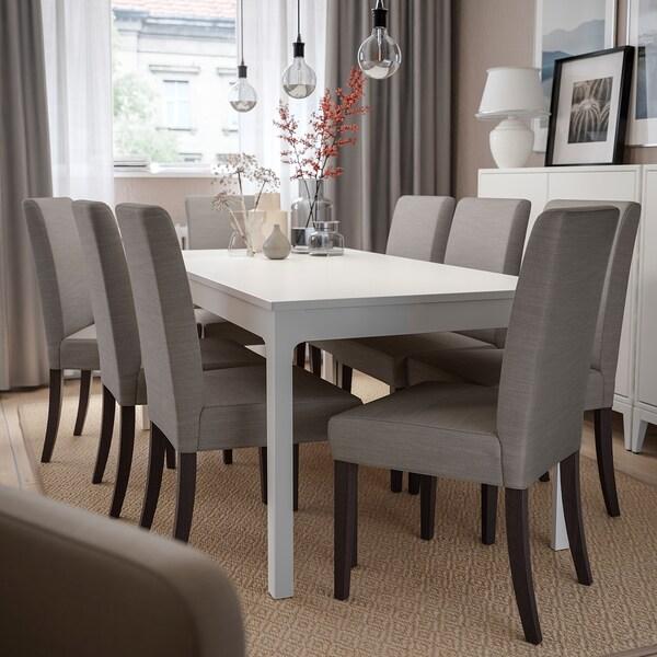HENRIKSDAL Chair, dark brown/Nolhaga grey-beige