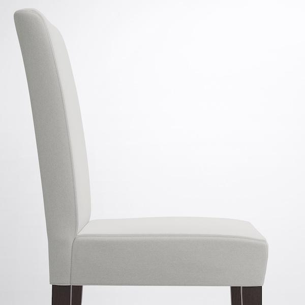 HENRIKSDAL Chair, dark brown/Orrsta light grey