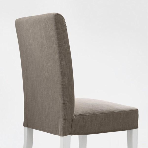 HENRIKSDAL Chair, white/Nolhaga grey-beige