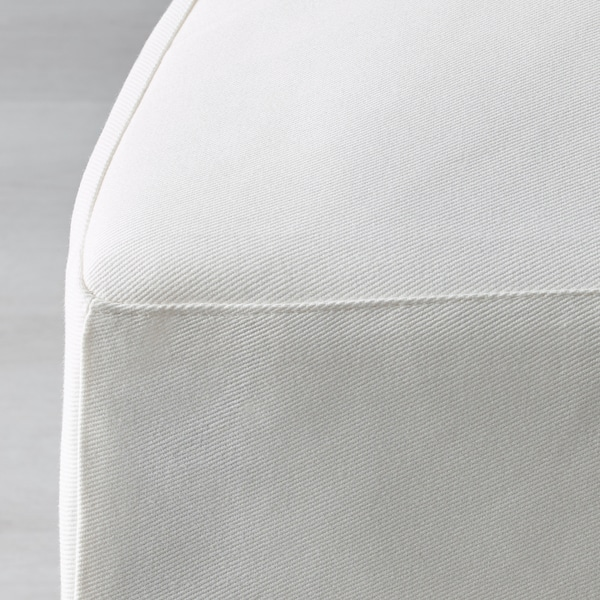 HENRIKSDAL Chair with long cover, white/Blekinge white