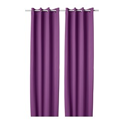 HILLEBORG Block-out curtains, 1 pair
