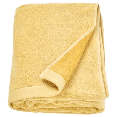 HIMLEÅN Bath sheet, yellow/mélange, 100x150 cm