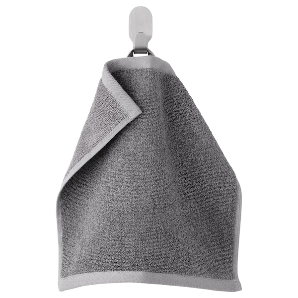 HIMLEÅN Washcloth, dark grey/mélange, 30x30 cm